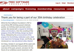 Thank you for being a part of our 35th birthday celebration-Free Software Foundation-header